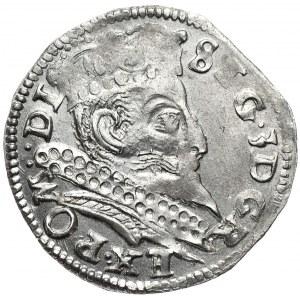 Zygmunt III Waza, trojak 1597, Poznań, R-EX, nieopisany wariant interpunkcji