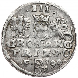 Zygmunt III Waza, trojak 1599, Wschowa, nieopisany