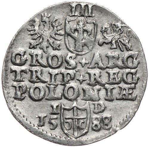 Zygmunt III Waza, trojak 1588, Olkusz