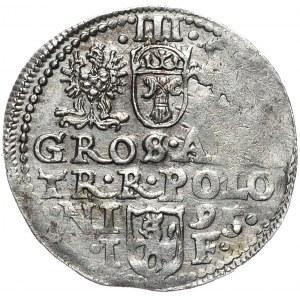 Zygmunt III Waza, trojak 1595, Olkusz, D G - POLON