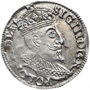 Zygmunt III Waza, trojak 1595, Olkusz, znak mincerski kończy legendę