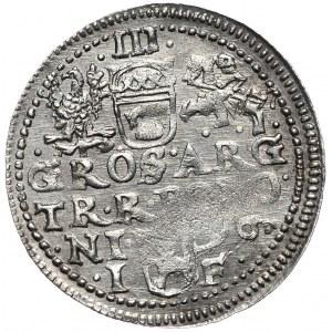 Zygmunt III Waza, trojak 1596, Olkusz, GROSS ARG