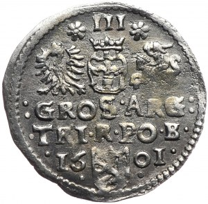 Zygmunt III Waza, trojak 1601, Bydgoszcz
