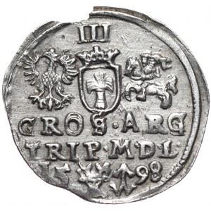 Zygmunt III Waza, trojak 1598, Wilno, Lidman i Chalecki, nieopisany wariant interpunkcji