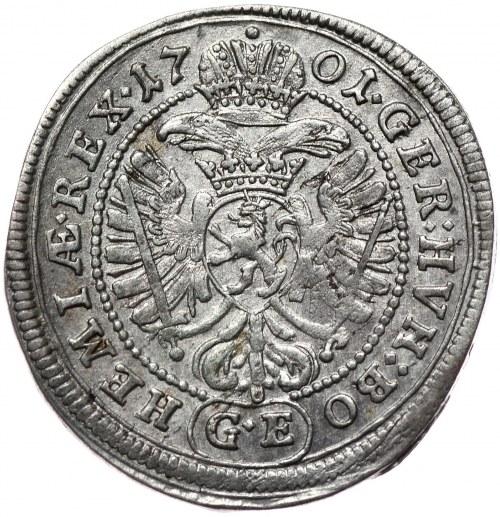 Austria, Leopold I, 3 krajcary 1701 GE, Praga