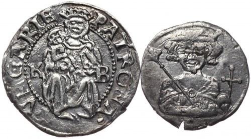 Węgry, Ferdynand I, denar 1532 KB, Kremnica i denar Karol Robert - razem 2 sztuki