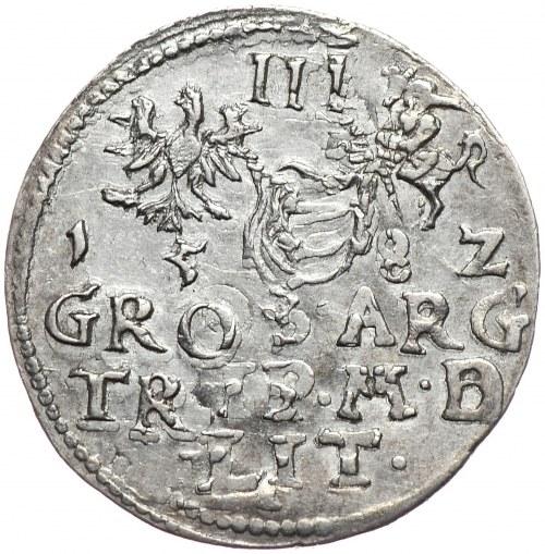 Stefan Batory, trojak 1582, Wilno
