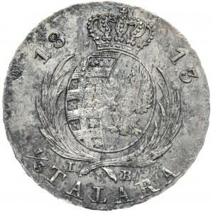 Księstwo Warszawskie, Fryderyk August I, 1/3 talara 1813, mennicze detale