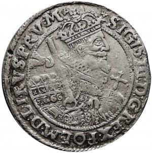 Kolekcja ortów polskich, ort 1622, Bydgoszcz, P.RV.M+, brak szarfy na piersi króla.