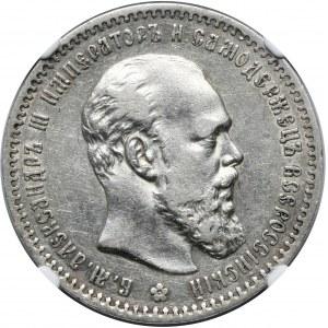 Rosja, Aleksander III, rubel 1891 AГ, Petersburg