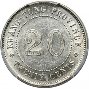 Chiny, Kwang-Tung, 20 centów bez daty (1919)