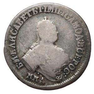 Rosja, Elżbieta, półpołtinnik 1756, Moskwa