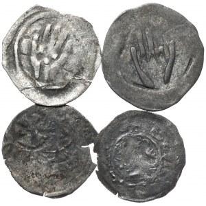 Austria, Niemcy, zestaw średniowiecznych monet - razem 4 szt.