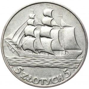 5 złotych 1936 żaglowiec