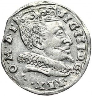 Zygmunt III Waza, trojak 1594, Wilno, rzadki wariant interpunkcji