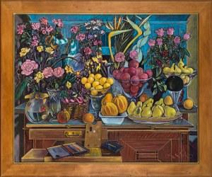 Czesław Tumielewicz, Martwa natura z paletą, 2000