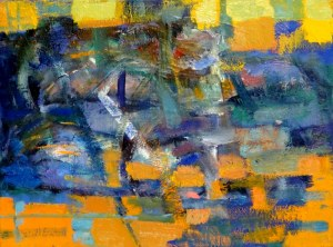Cezary Trzepizur, Blue Abstract