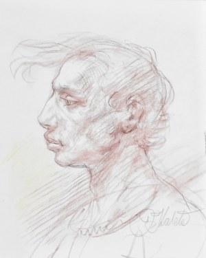 Dariusz Kaleta Dariuss (Ur. 1960), Popiersie mężczyzny z lewego profilu