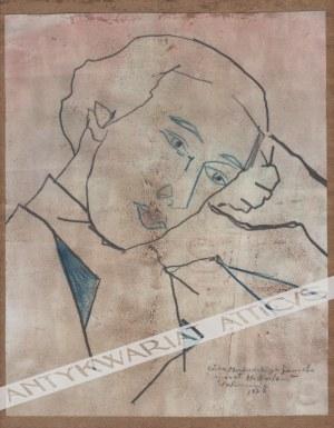 Berlewi Henryk (1894 Warszawa-1967 Paryż), [rysunek, 1920] [portret kobiety]