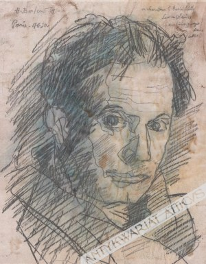Berlewi Henryk (1894 Warszawa-1967 Paryż), [rysunek, 1950] [portret mężczyzny]