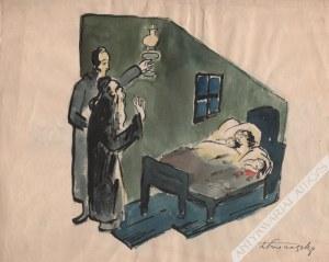 Zbigniew Pronaszko, [rysunek, lata 1930-te] Rodzina żydowska / Scena przydrożna