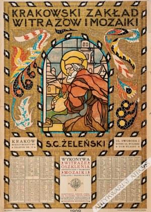 Jan Bukowski (1873-1943), [plakat, 1909] Krakowski zakład witraży S. G. Żeleński.