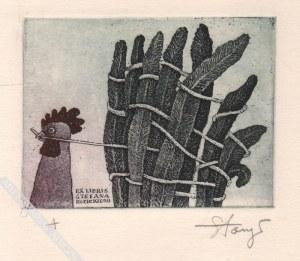 Stasys Eidrigevičius (Ur. 1949), [grafika, 1976] Ex Libris Stefana Kozickiego