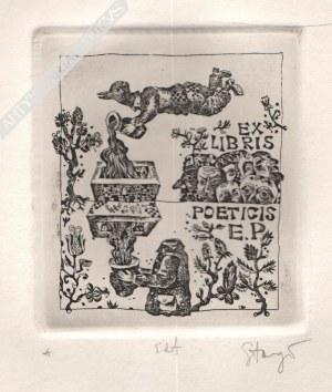 Stasys Eidrigevičius (Ur. 1949), [grafika, ok. 1980] Ex libris poeticis E.P.