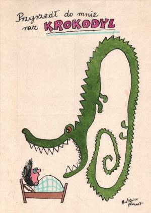 Bohdan Butenko (1931-2019), [rysunek, lata 80-te] Przyszedł do mnie raz krokodyl