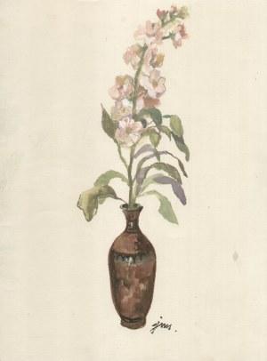 Jan Marcin Szancer (1902-1973), [akwarela, lata 60-te] Kwiaty w wazonie