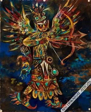 Jan Marcin Szancer (1902-1973), [rysunek, lata 60-te] [aztecki bóg]