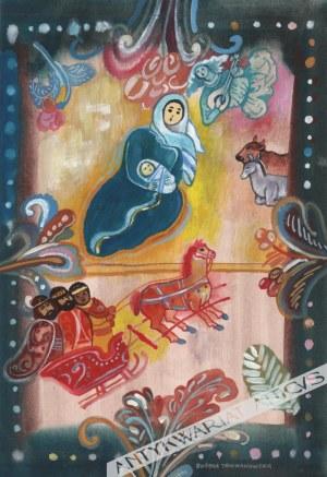 Bożena Truchanowska (Ur. 1929), [rysunek, ok. 1990] Idzie Nowy Rok