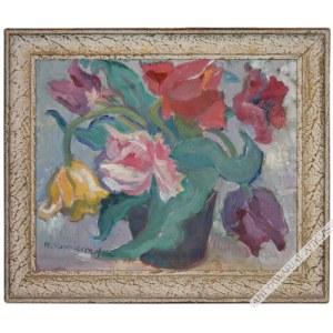 Maria Komierowska (1913-1972), [obraz, lata 1960-te] Kwiaty