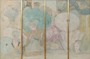 Włodzimierz TERLIKOWSKI (1873-1951), Teatrzyk japoński - kwadryptyk, 1926