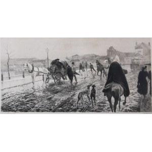 Stanisław Feliks JASIŃSKI (1862-1901), Nowy Zjazd w Warszawie - wg obrazu Józefa  Ryszkiewicza, 1893