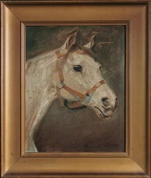 Wojciech KOSSAK - według, Głowa konia