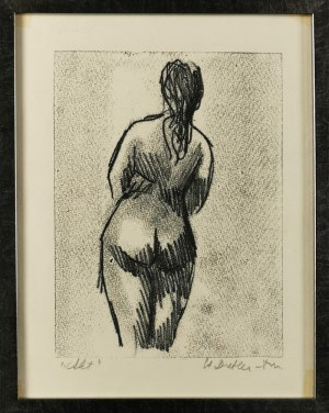 Stefania DRETLER-FLIN (1909-1994), Akt [tyłem], lata 50. XX w.