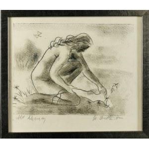 Stefania DRETLER-FLIN (1909-1994), Akt klęczący ,lata 50. XX w.