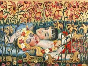 Stefan CENTOMIRSKI (ur. 1928), Alegoria miłości, 2002
