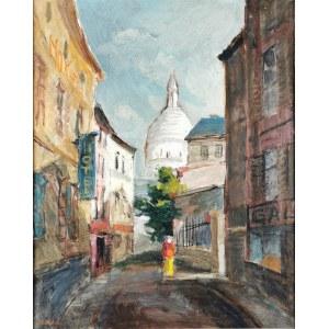 Stanisław Jan ŁAZOREK  (1938-2000), Widok na bazylikę Sacré-Cour na Montmartre w Paryżu