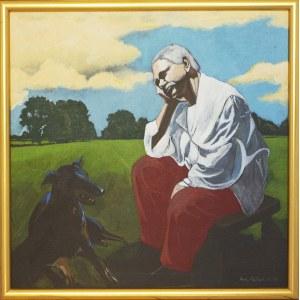 FAŁAT ANTONI, Portret Jerzego Dudy Gracza - Świątek, 1996