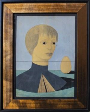 MIKULSKI KAZIMIERZ, Bez tytułu (portret kobiety), 1949