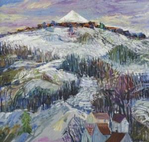 Szancenbach Jan, PEJZAŻ ZIMOWY Z KOPCEM KOŚCIUSZKI, 1996