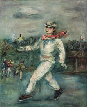 Zucker Jakub (Jacques), ŁYŻWIARZE W CENTRAL PARKU, 1934