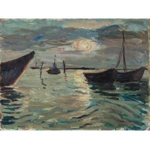 Korotkiewicz Tadeusz, Łodzie rybackie o wschodzie słońca, lata 20. XX w.