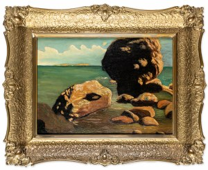 Wygrzywalski Feliks Michał, Skały u brzegu Cypru, 1931