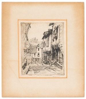 Pankiewicz Józef, Ulica Dinan (z kotem) w Jerzual, 1906