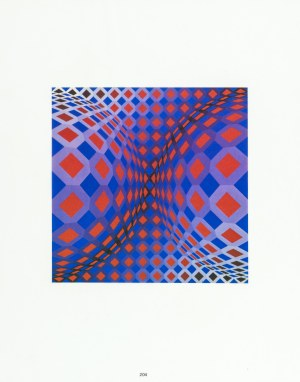 Vasarely Victor, Ondocto-X, 1972