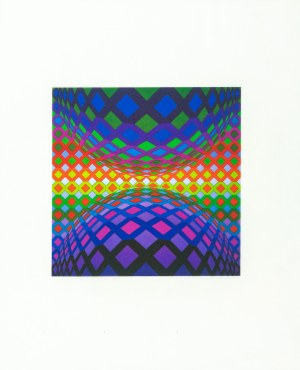 Vasarely Victor, Ondocto-Re, 1972