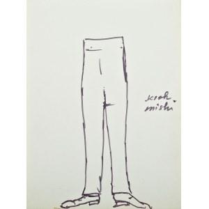 Tadeusz KANTOR (1915-1990), Projekt kostiumu (spodni) do spektaklu 'Wielopole' (ok. 1980)